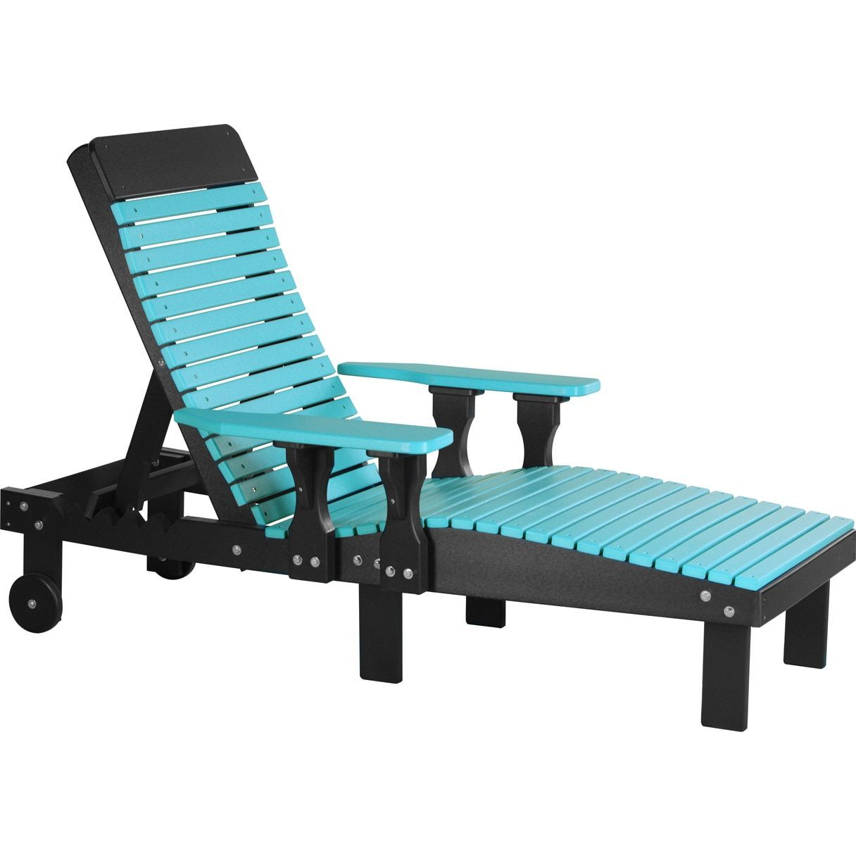 Amazing Outdoor Poly Chaise Lounge Chair Weatherwood Chestnut Brown Short Links Chair Design For Home Short Linksinfo