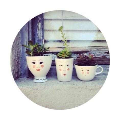 DIY cup-head planters // Liz Ro + Bungalow