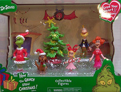 just play dr seuss grinch holiday figures set just play httpswww