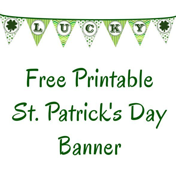 Lucky St Patrick S Day Banner Diy Ideas St Patrick S Day