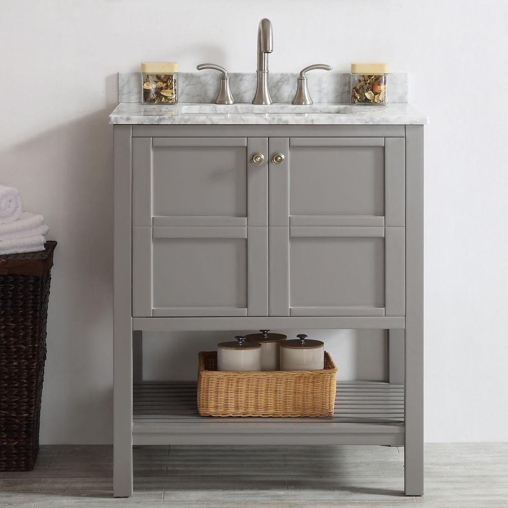 ROSWELL Florence 30 in. W x 22 in. D x 35 in. H Vanity in ...