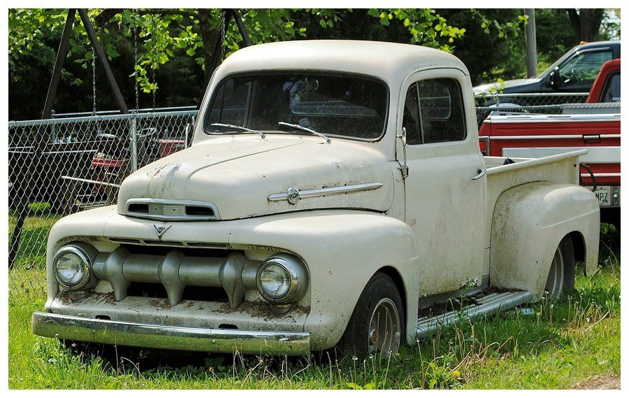 old ford truck rusting in the weeds | Vintage Ford Trucks ...