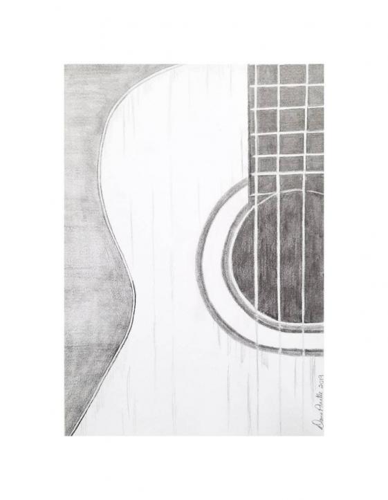 Pencildrawing Pencil Drawing Simple In 2020 Guitar Wall Art Guitar Art Guitar Sketch