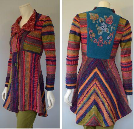 IVKO Woman's Wool Boucle Stripe Jacket Style 32706 046 BERRY