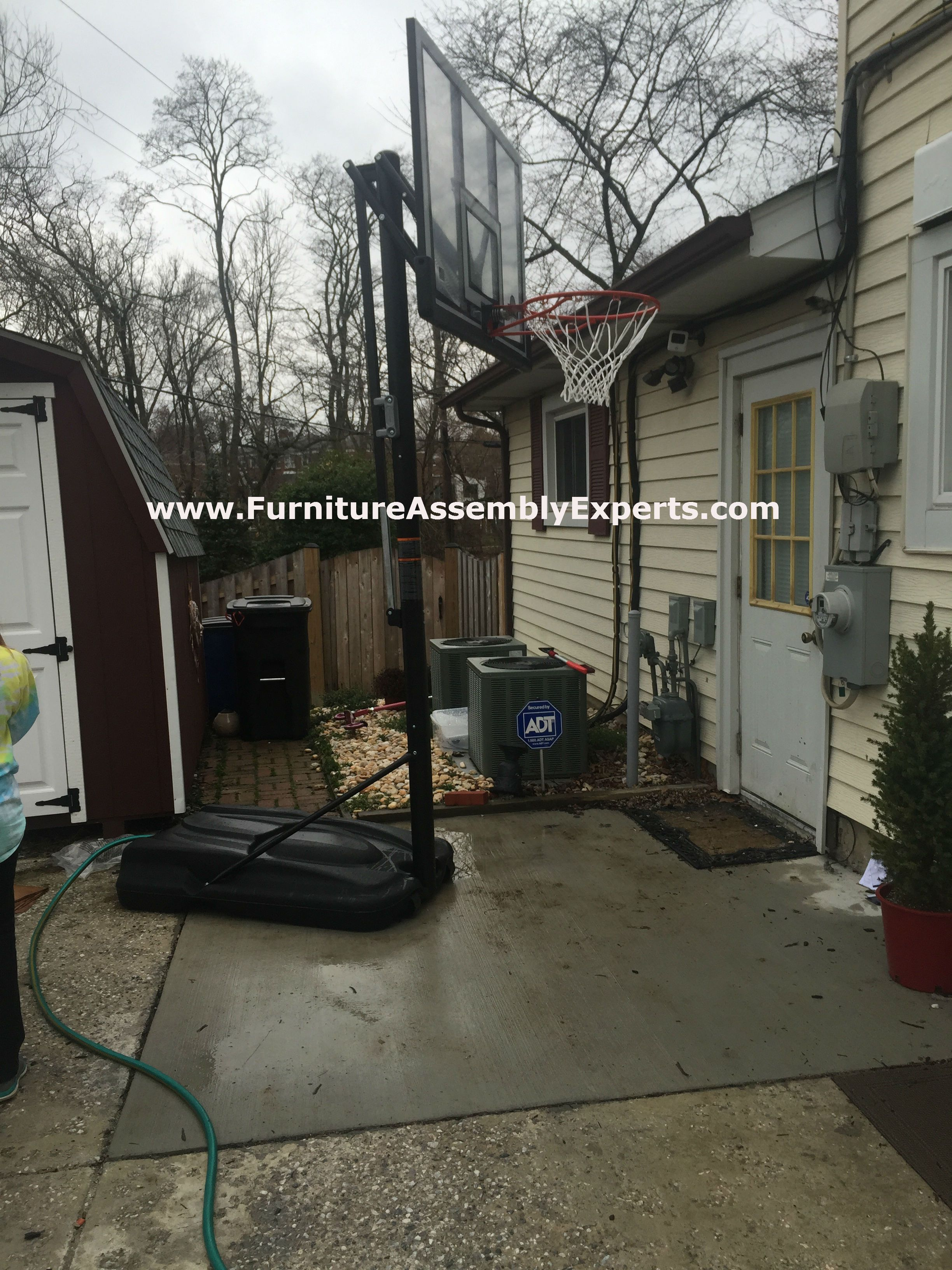 Costco Lifetime Portable Basketball Hoop Assembled In Alexandria Va By Furniture Assembl Lifetime Basketball Hoop Portable Basketball Hoop Basketball Equipment