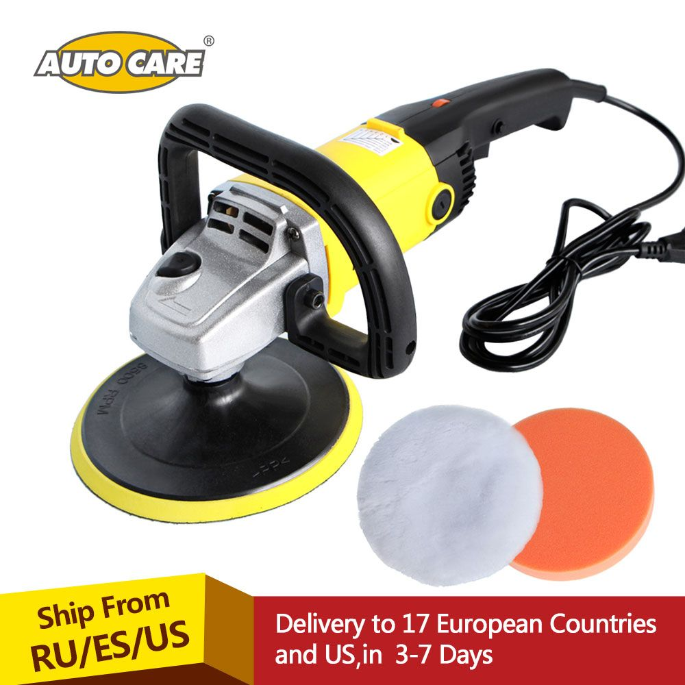 Car Polisher 1200w Variable Speed 3000rpm 180mm Car Paint Care Tool Polishing Machine Sander 220v M14 Electric Floor Polisher Car Wax Paint Care Car Painting