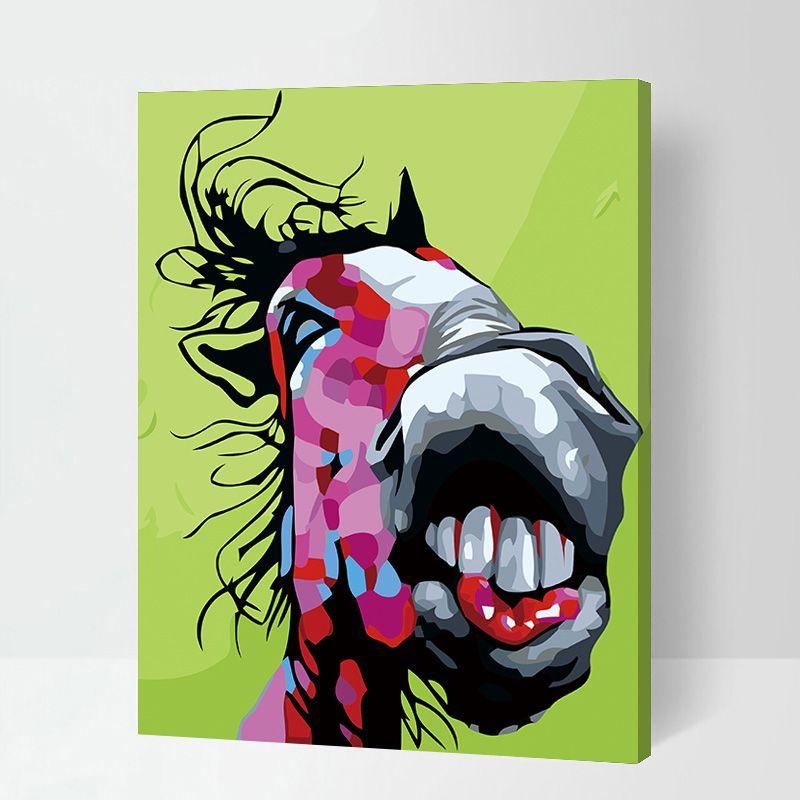 Malen Nach Zahlen Pferd Bunt Malennachzahlen