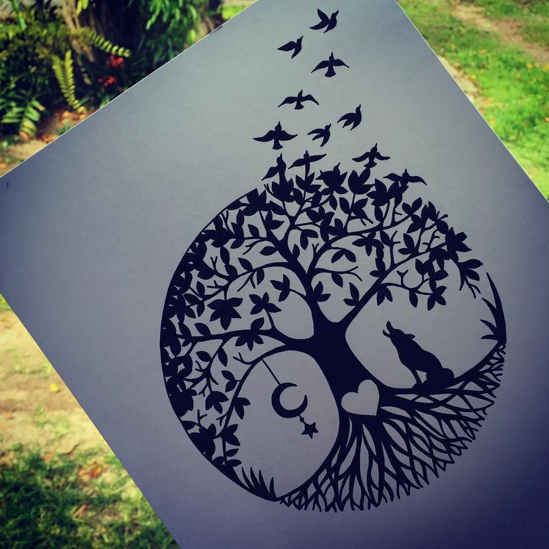 It's just an image of Unforgettable Birds In The Moon Drawing