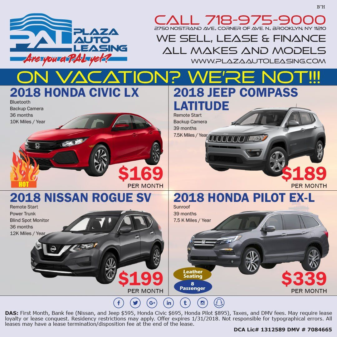 Pin By Plaza Auto Leasing Sales On Special Offers Finance Lease Civic Lx Honda Civic