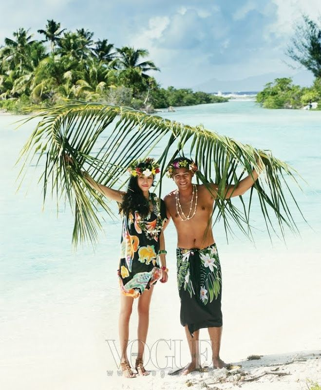 'Escape to Tahiti': Vogue Korea, July 2010  Model: Kim Won Kyoung   Photographer: Oh Jung Seok