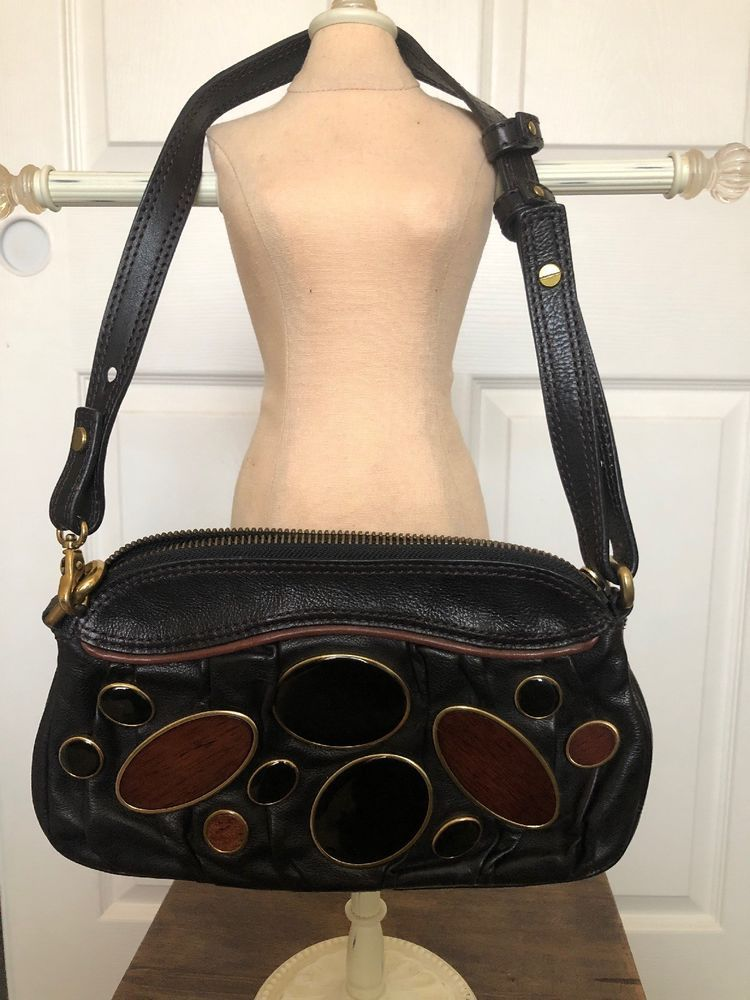 Fossil 54 FiftyFour Handbag Leather PreOwned Fossil