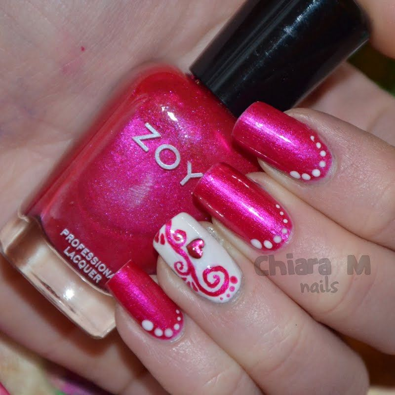 Hot pink and white nails beautiful white and pink nail art art hot pink and white nails prinsesfo Choice Image