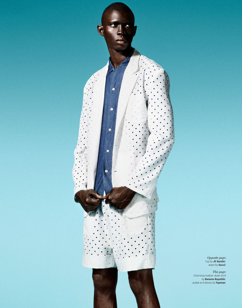 Fernando Cabral is Feeling Blue for Out Magazine | Pinterest ...