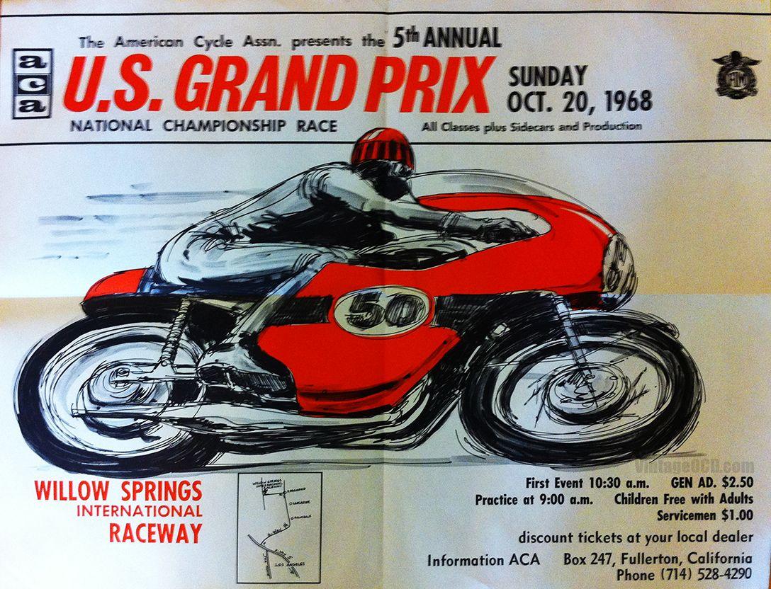 Vintage Moto Poster | Vintage racing poster, Vintage