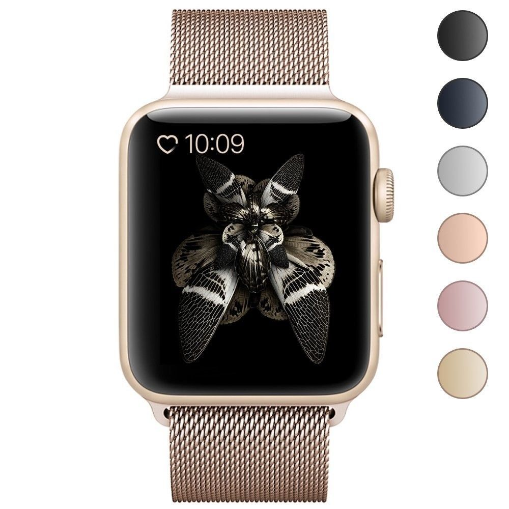 Iwatch Band 38mm Gold Stainless Steel Apple Magnetic Closure Clasp
