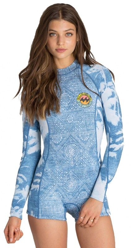 Buy the 2mm Women s Billabong SPRING FEVER L S Springsuit at Wetsuit  Wearhouse. FREE ground shipping   25 d8ad9c5f1