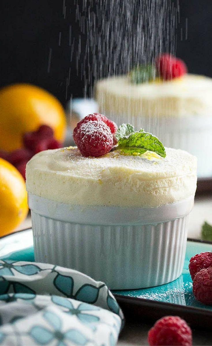 Chilled Meyer Lemon Souffles | Desserts, Make ahead desserts