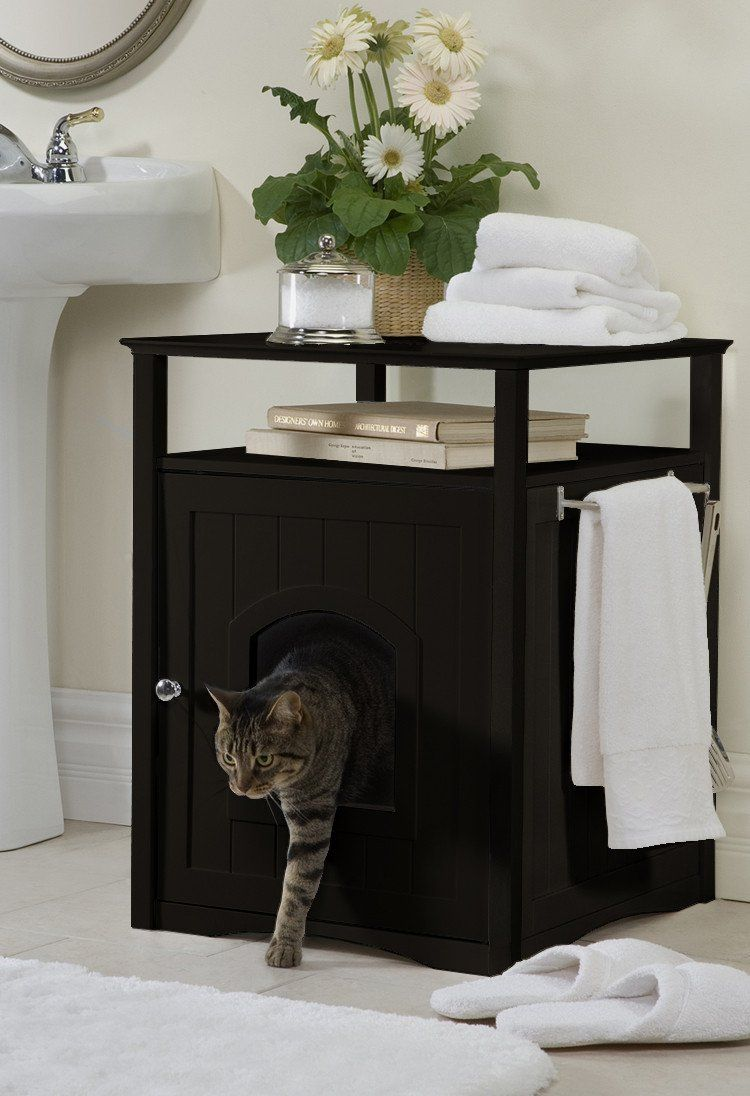 Elegant Hidden Cat Litter Box End Table Clever And