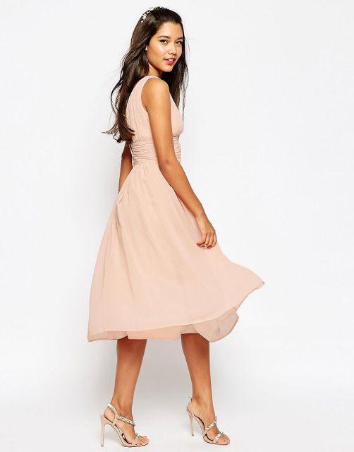que vestidos andan de moda. que vestidos andan de moda Chiffon Kleid  Knielang ... 17bf553b6a