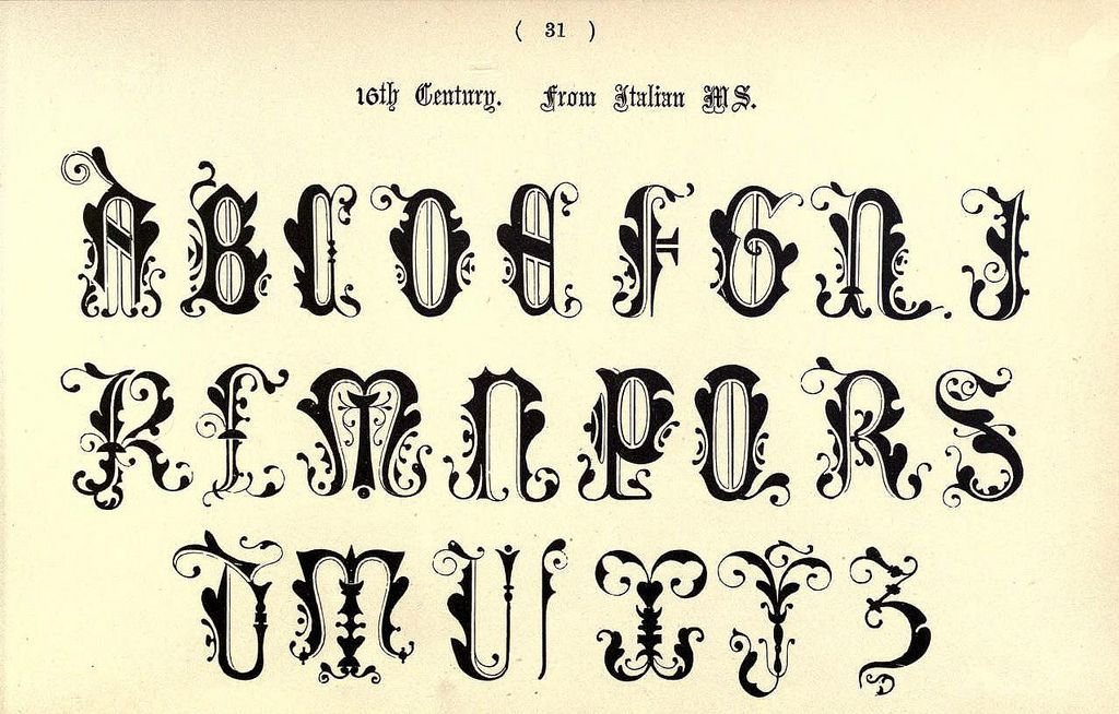 Original antique print plate 1906 Typography Letting Tattoo 16th Century Examples