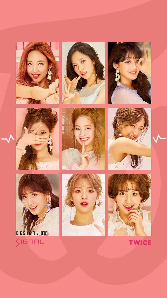 Twice Signal Wallpaper Version 4 Twice In 2019 Wallpaper Kpop