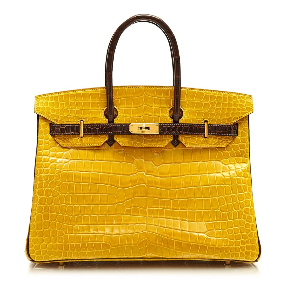 de050cfcf7 A 2011 Hermès Yellow Limited Edition Crocodile Birkin goes for  95