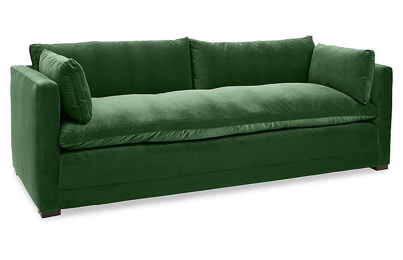 Ellice Sofa Emerald Velvet Robin Bruce Sofa Velvet
