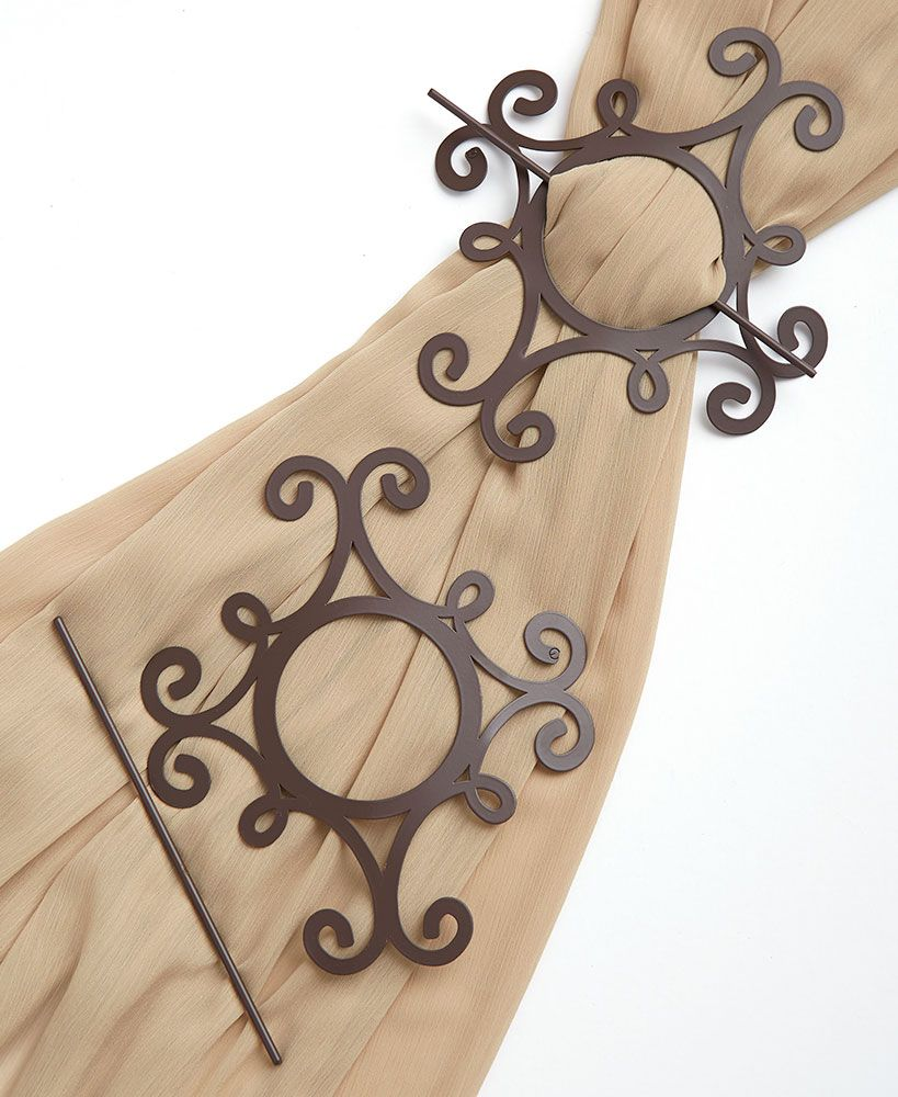 19 wooden curtain tie backs with pins