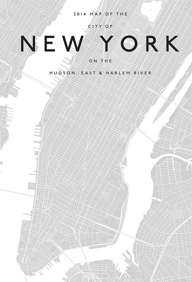 Mapa New York para enquadrar | Wall inspo | Pinterest | Mapas ...