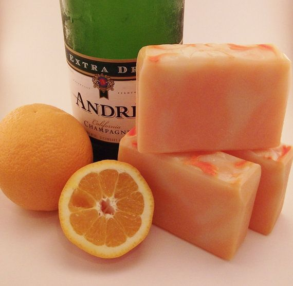 Bucks Fizz cold process soap  Palmfree by PearlyQueenSoapery, $6.00