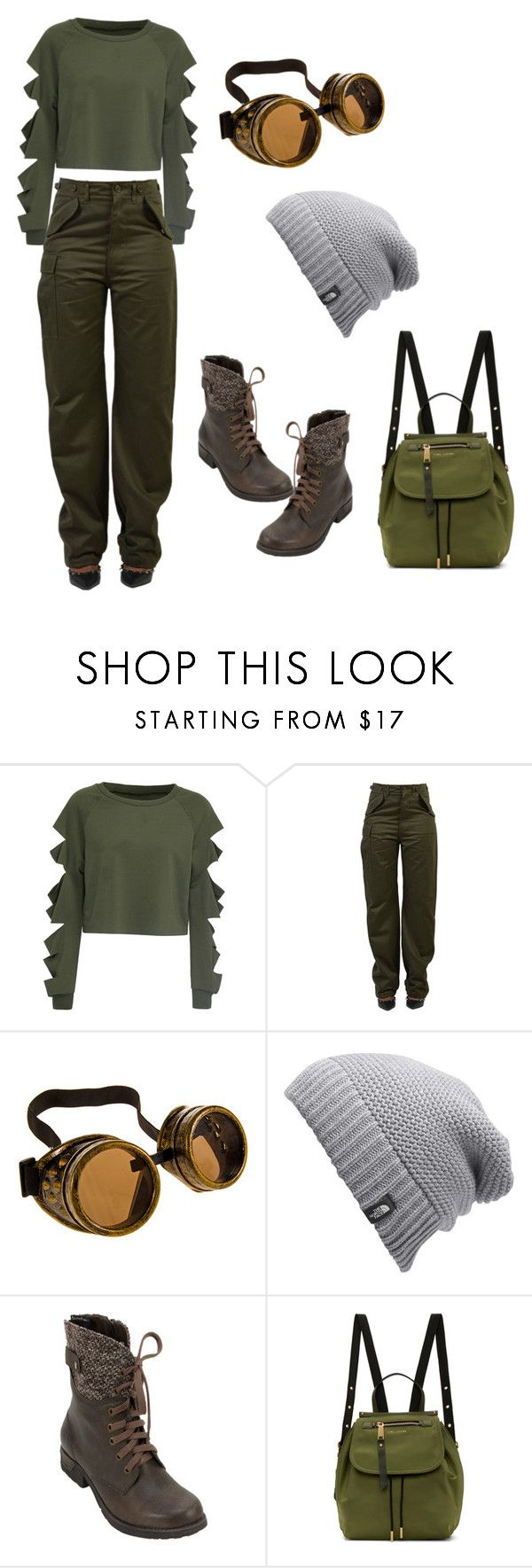 """Mila's casual wear #4"" by pantsulord ❤ liked on Polyvore featuring WithChic, Balenciaga, The North Face, White Mountain and Marc Jacobs"