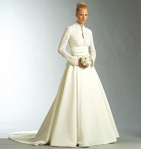 Vogue Pattern V2979 Misses Pee Wedding Dress And Sash Average