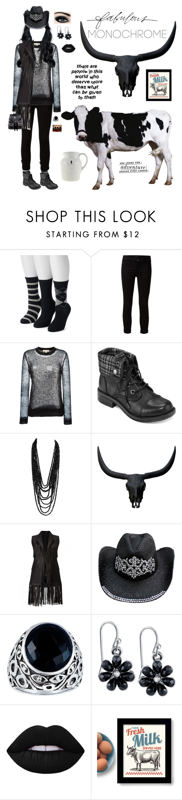 """""""Chillin' with the Cows"""" by pinky-dee ❤ liked on Polyvore featuring SONOMA Goods for Life, J Brand, MICHAEL Michael Kors, Arizona, Parvez Taj, Stella & Dot, 2028, Lime Crime, Kate Spade and Amara"""