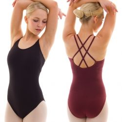 8b9ae46892cda A firm favourite from Capezio, this women's camisole leotard with  criss-cross straps makes an ideal uniform.