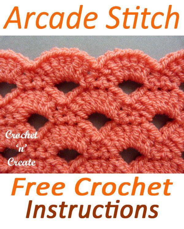 Arcade Crochet Stitch #crochetstitchespatterns