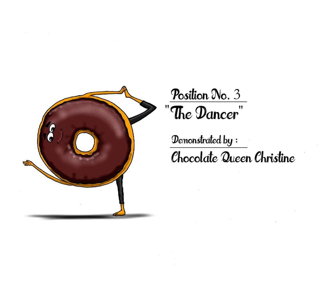 """From my """"Art of the Donut"""" collection. Donuts and Yoga... absolutely! - #donuts #doughnuts #yoga #yo..."""
