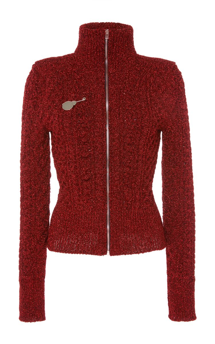 Daley Front Zip Aran Knit Cardigan by ISABEL MARANT for Preorder on Moda Operandi