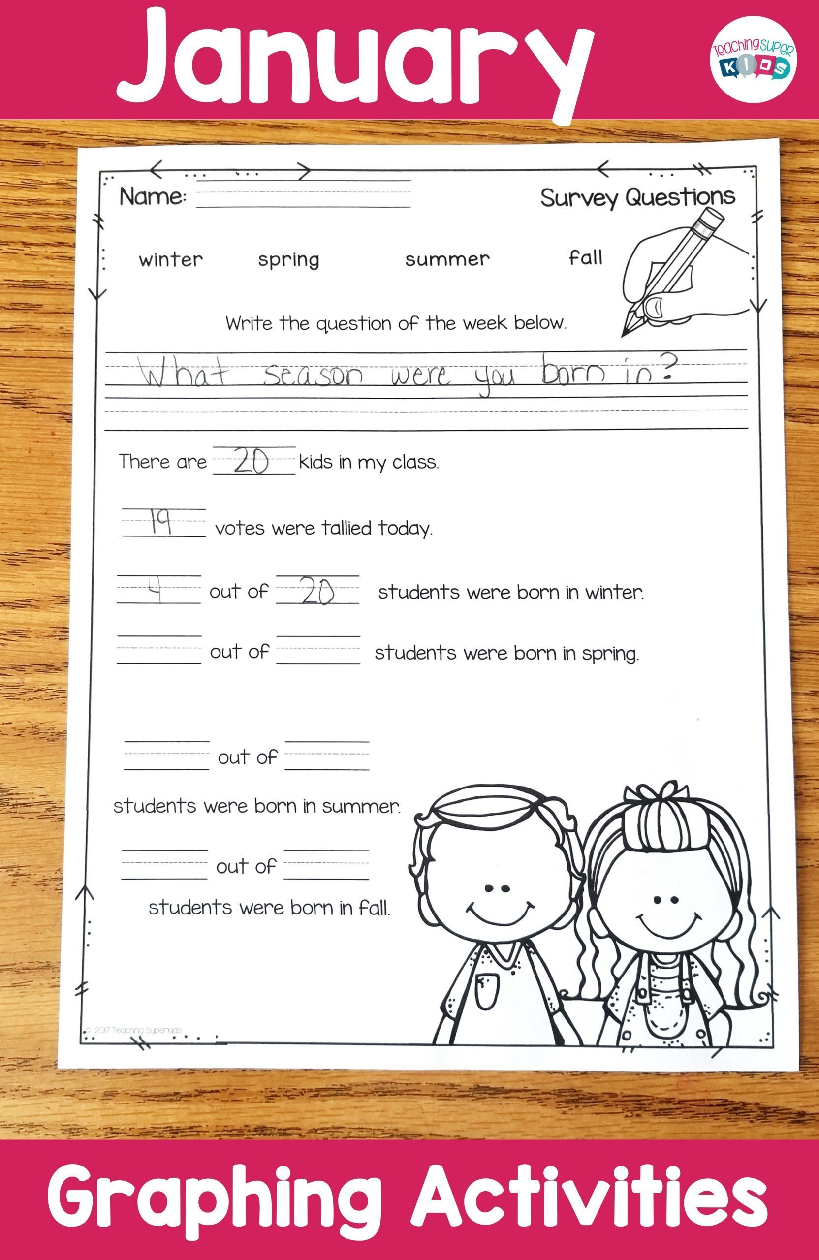 3 Superkids Reading Worksheets Graphing Activities For
