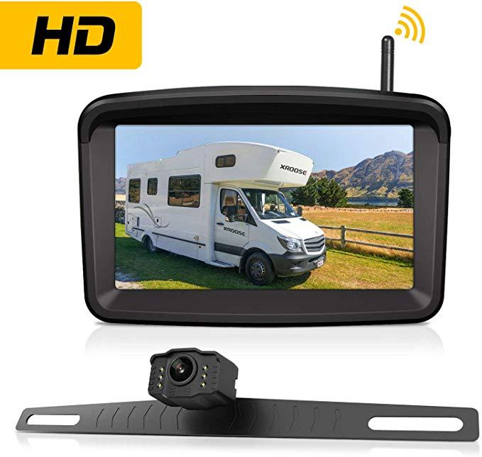 Wireless Backup Camera With 5 Monitor For Car Pickup Truck Sedan Rv Suv Camper Rearview License Plate In 2020 Wireless Backup Camera Backup Camera Best Digital Camera