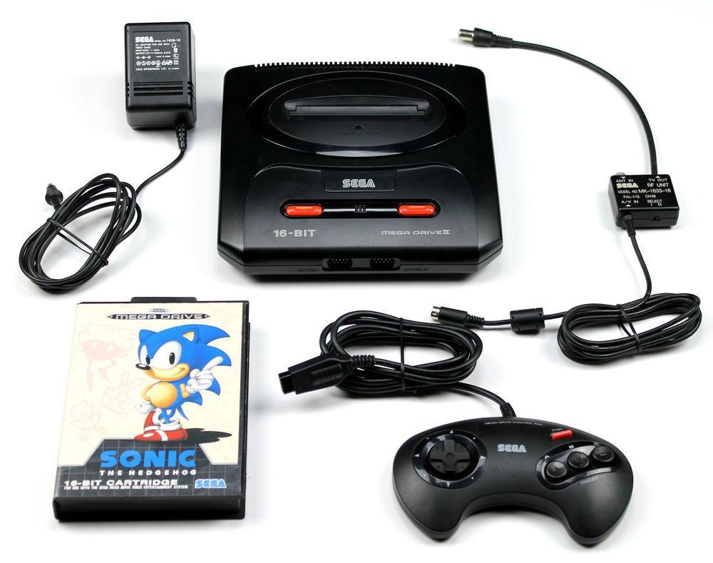 Sega Mega Drive 2 Konsole+Kabel+1 Sega Controller+Sonic The Hedgehog ...