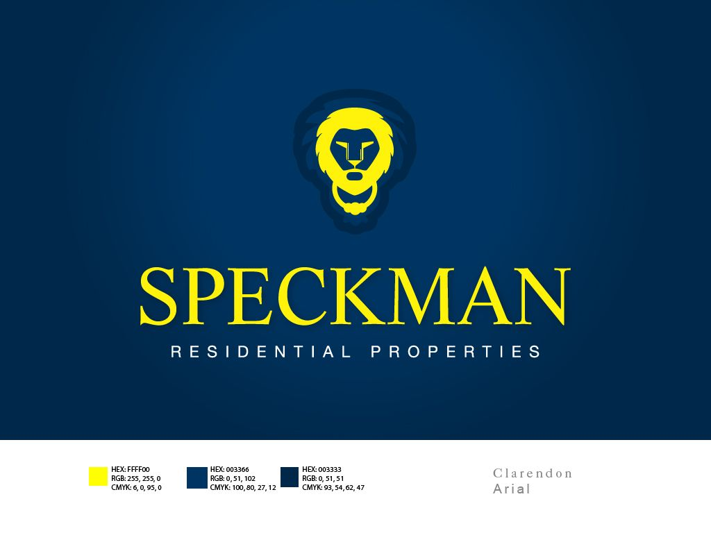 #LogoDesign for Speckman Properties. Spatial awareness is key in designing logos. Every pixel counts!