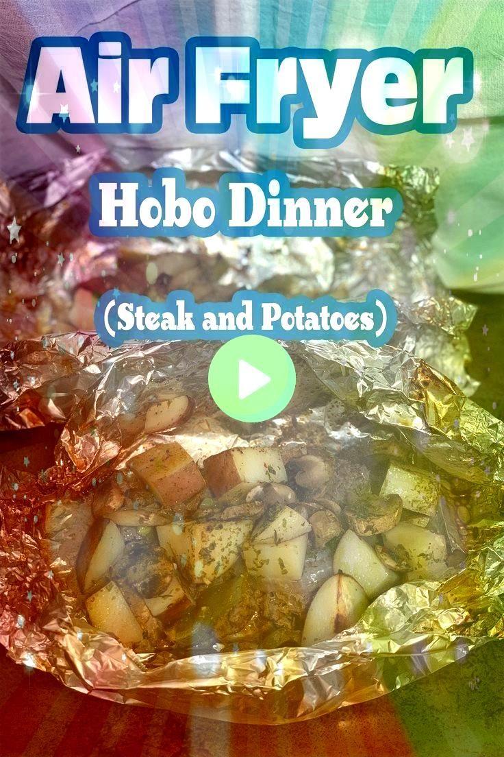 Air Fryer Steak Hobo Dinner Recipe is an allinone recipe that is filled with juicy and flavorful steak potatoes peppers mushrooms and a handful of seasoningsThe Air Fryer...