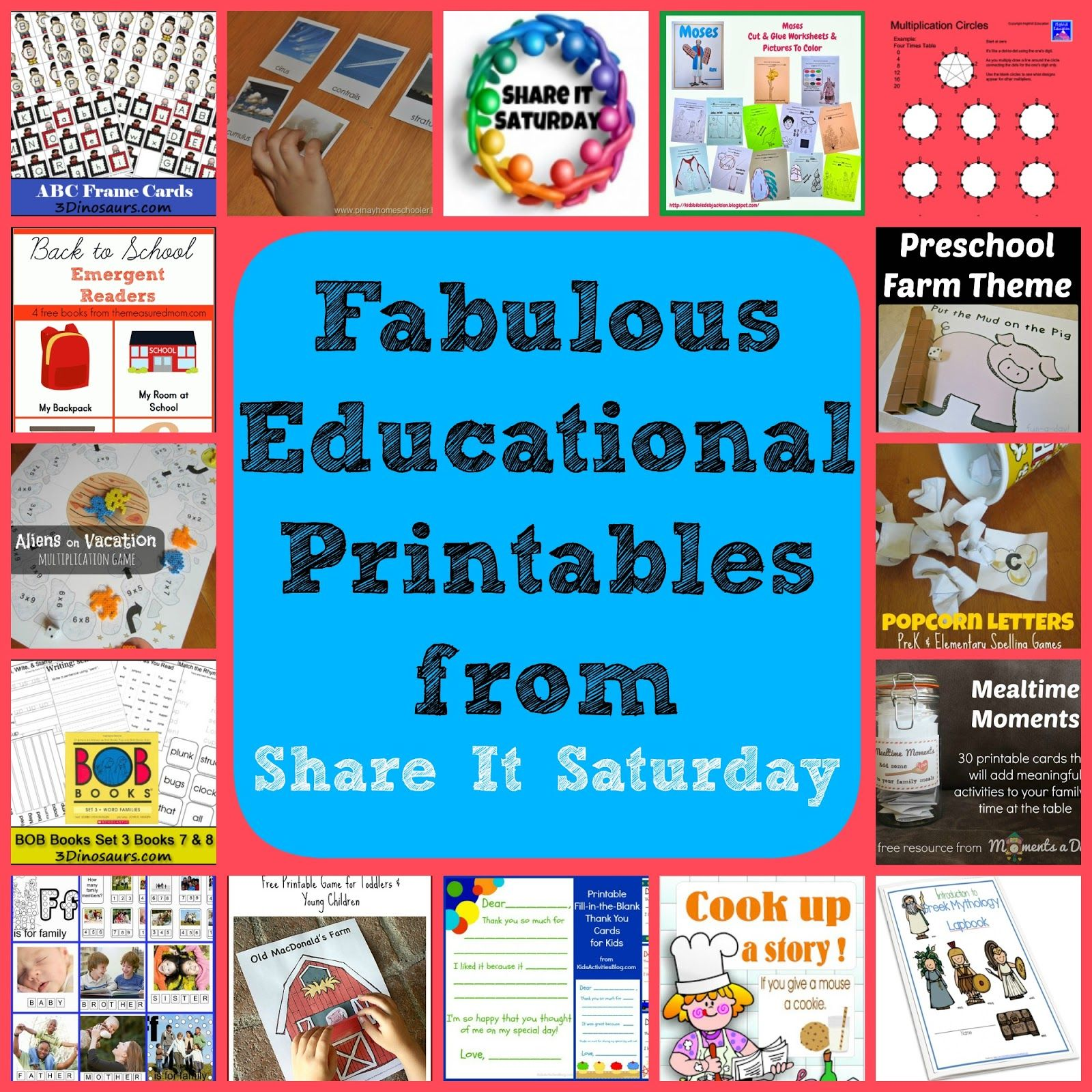 Share It Saturday~ Free Educational Printables   Homeschool