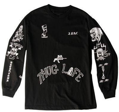 27dd094964b Long sleeved t-shirt of Tupac s tattoos.. pretty sweet