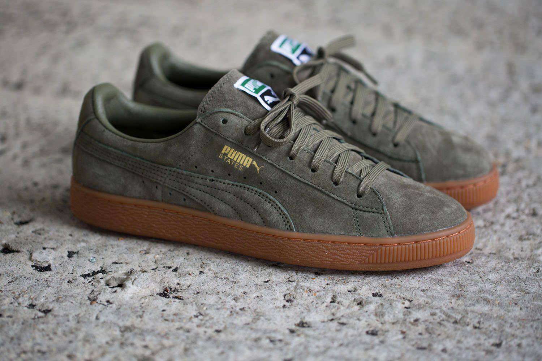 Chaussures Puma Kaki