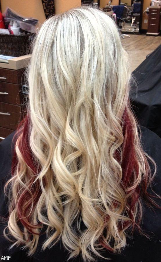Dark Red Hair With Blonde Peekaboos 2015 2016 Fashion Trends 2014