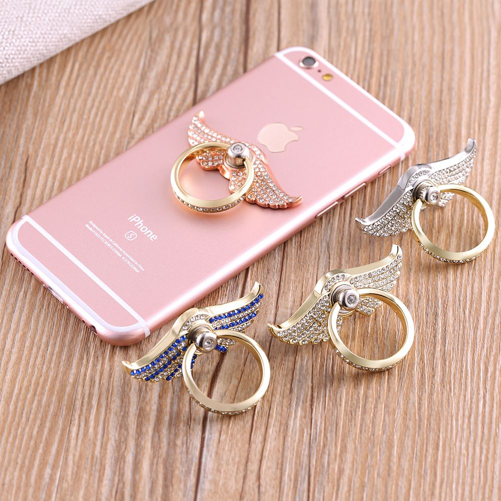 KISSCASE Phone Bracket Holder 360 Degrees Finger Ring Kickstand For iPhone 7 iPhone 6 6s Xiaomi Samsung Huawei LG Bling Diamond