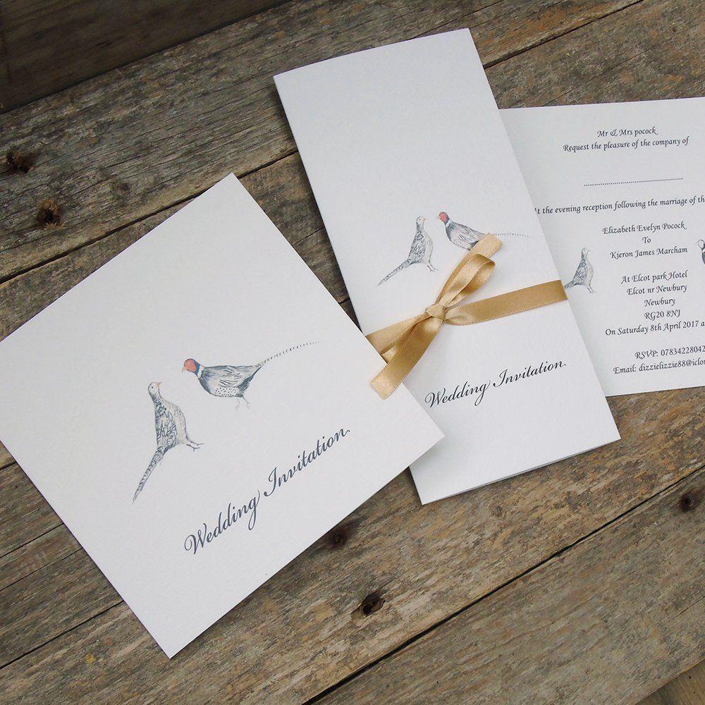 Invitation Formats Pheasant Wedding Invitations Available On A Variety Of Invitation .