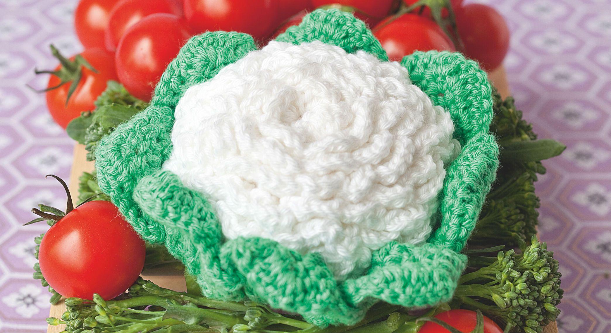crochet : je fabrique des choux-fleurs   le chou fleur, le chou et