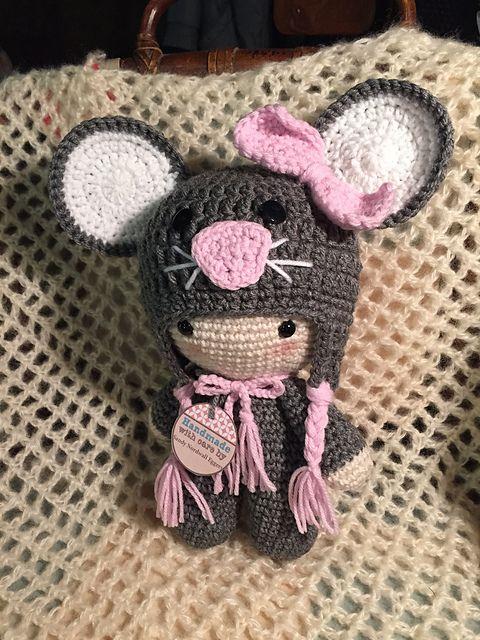 Ravelry: sandyeggers02\'s Mouse Big Head Doll | knit/crochet ...